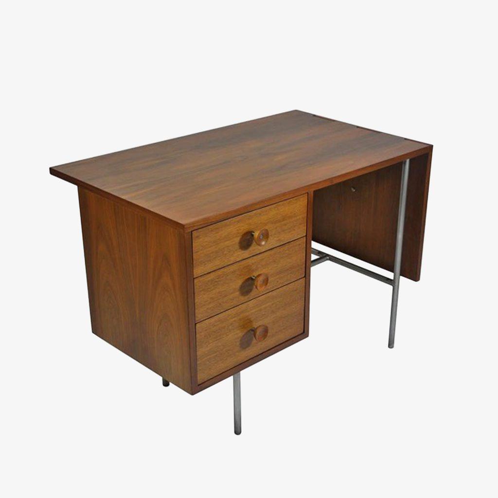 George Nelson Walnut Drop Leaf Desk